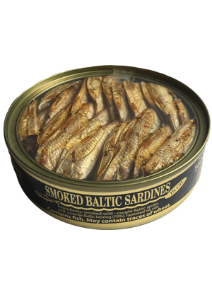 Smoked sardines in oil, 160g, 36/box
