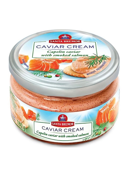 Caviar Cream Salmon, 180g, 6/carton