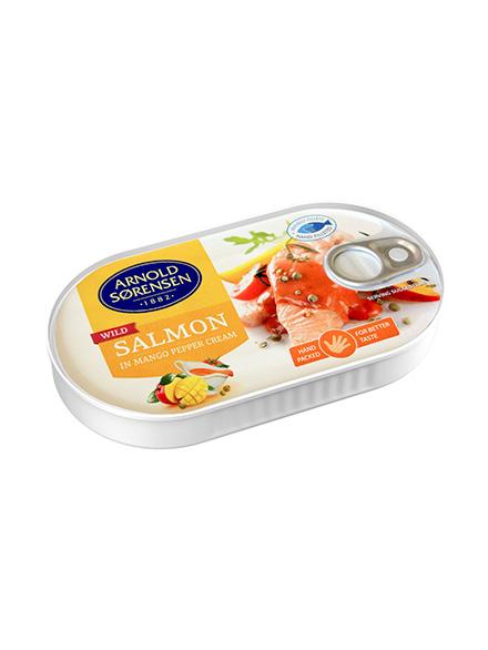 Wild Salmon in Mango with pepper cream Arnold Sorensen, 36/box