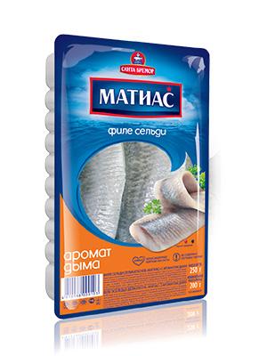 Herring fillets Matjes in oil smoke flavour, 250g, 20/carton