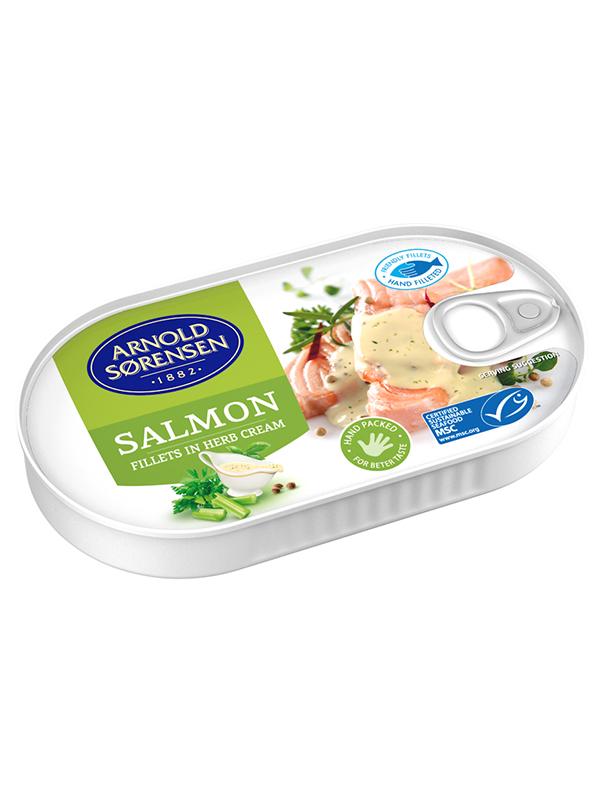 Wild Salmon in Herb cream Arnold Sorensen, 36/box