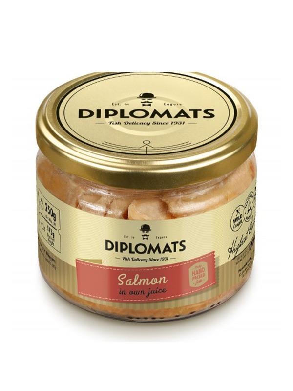 Salmon in Own Juice Diplomats, 250g, 12/box