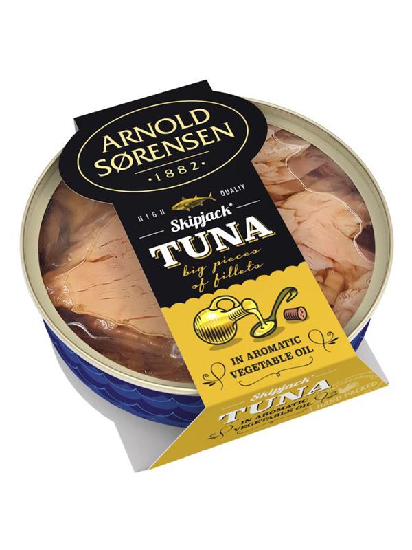 Tuna in oil Arnold Sorensen, 160g, 60/box