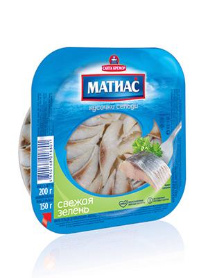 Herring fillets Matjes in oil green spices, 200g, 8/carton